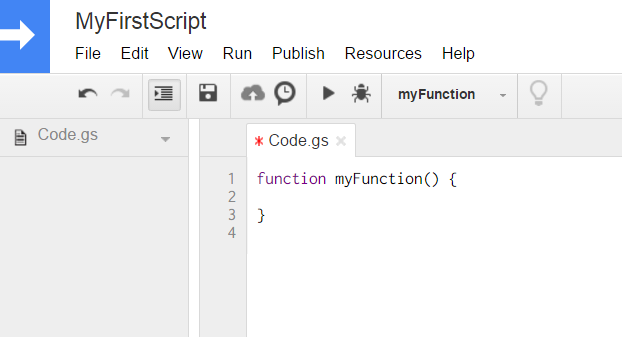 Google Script IDE