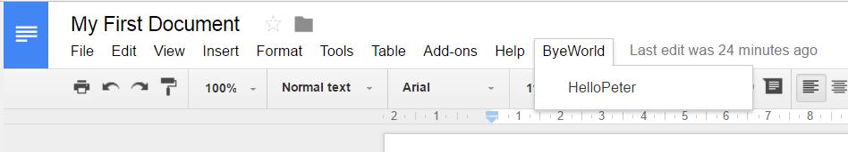 Google App Script Custom UI