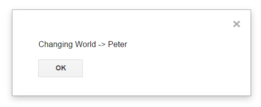 Google App Script Alert Dialog