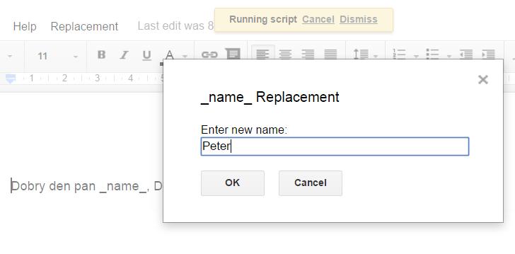 Google App Script Prompt Dialog