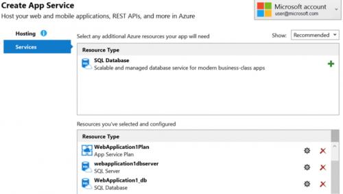 Azure konfigurácia aplikácie a služieb